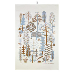 Metsa tea towel in blue