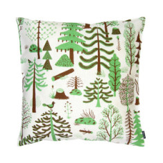 Metsa square cushion cover in green