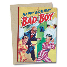 Happy Birthday Bad Boy Greetings Card