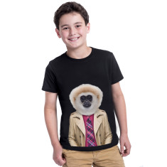Gibbon Monkey kid's tee