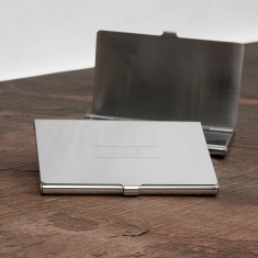 Initial Personalised Business Card Holder