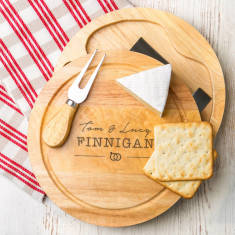 Personalised Images Wedding Cheese Board Set