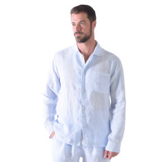 Bora Bora blues men's pj shirt