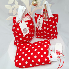 Christmas dotty surprise gift bags (set of 3)