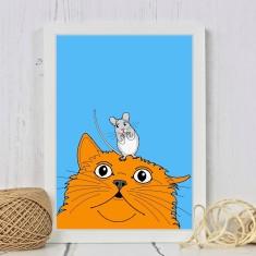 Cat & Mouse Print