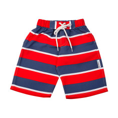 Boys' chlorine-resistant boardshorts in Flinders Redcoat