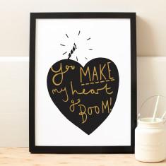 Heart Goes boom Print