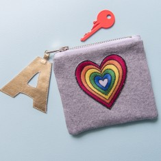 Rainbow Heart Coin Purse
