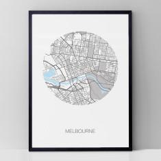 Melbourne round print