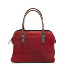 Mini Mina tote red cowhide