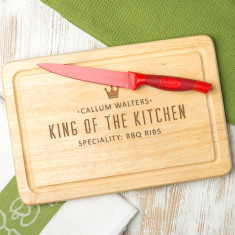 Personalised 'King Of The Kitchen' Chopping Board