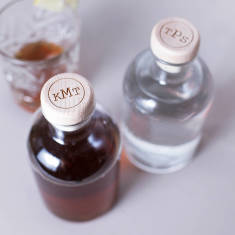 Personalised circular monogram drink decanter