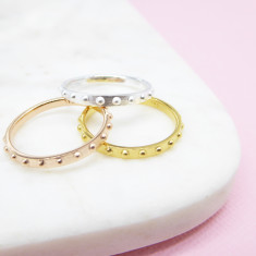Mini Ball Eternity Ring (various colours)