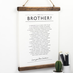 Brother Poem Print