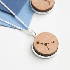 Zodiac constellation pendant necklace