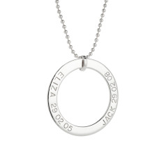 Mia personalised sterling silver pendant