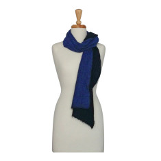 Boiled wool and silk double-sided scarf