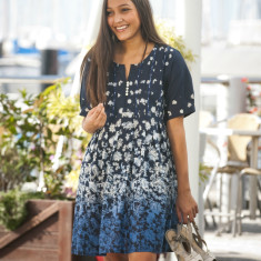 Megha dress in midnight blue
