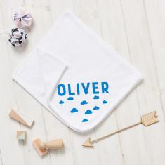 Personalised New Baby Scandi Cloud Blanket