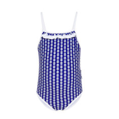 Mieke blue full-piece girls' bathers