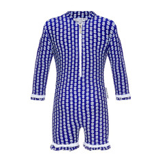 Mieke blue all-in-one UV suit