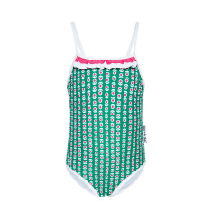 Mieke green full-piece girls' bathers