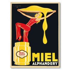 Vintage miel ready to hang canvas print
