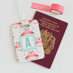 Flamingo Personalised Luggage Tag