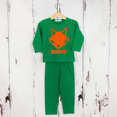 Personalised fox tail pyjama set