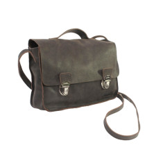 Mini satchel in soft old brown leather