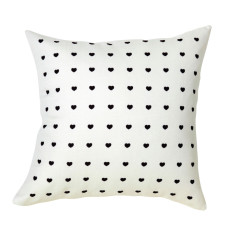 Mini heart cushion cover in aqua or black & white