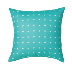 Cushion Covers with Mini Heart Design (set of 2)