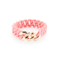 Mini woven bracelet in candy and rose gold