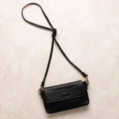 Mini cross body bag in black