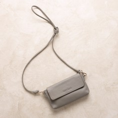 Mini cross body bag in grey