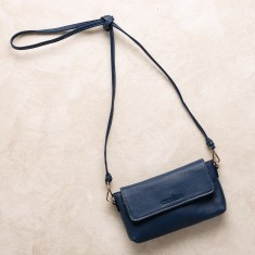 Mini cross body bag in navy