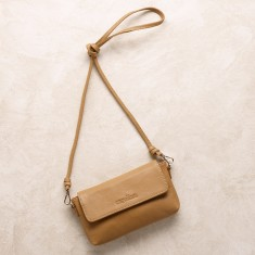 Mini cross body bag in tan