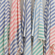 Mini stripe towel (various colours)