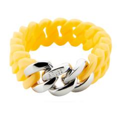 Slim woven bracelet in sunshine & silver