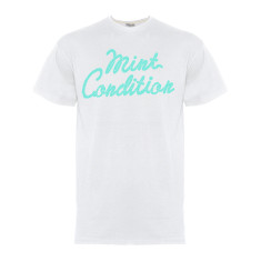 Mint condition blue gel men's white t-shirt