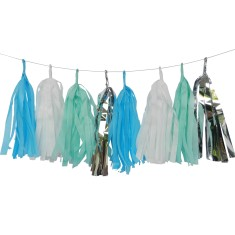 Tassel garland in mint shimmer