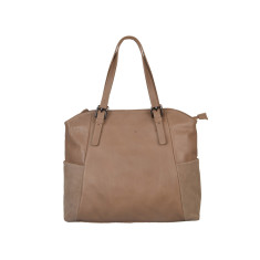 Coco Taupe Leather Tote Bag
