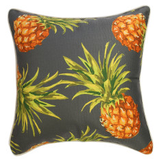 Outdoor Cushion Pineapples Black (various sizes)