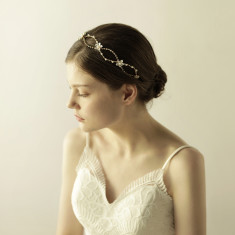 Vintage Style Double Cross Chain Hair Crown