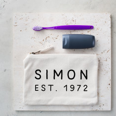 Personalised Established Wash Bag