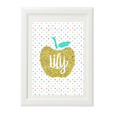 Golden Apple Personalised Print
