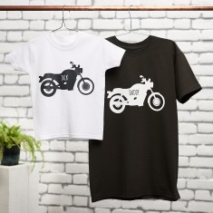 Father And Child Motorbike T Shirt Set