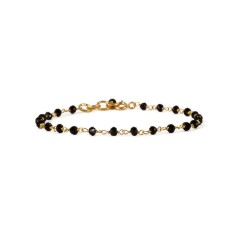 Rosary bracelet with black onyx
