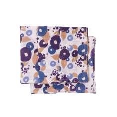 Linen napkins in Jodhpur blue & beige floral (set of 6)