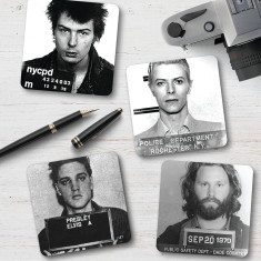 Celebrity Mug Shot Coasters (set of 4)